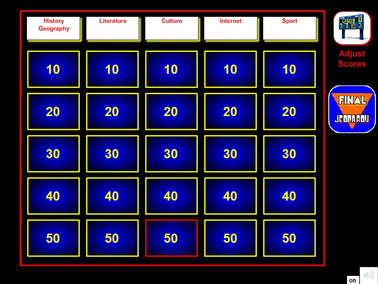 Jeopardy games in elt beta first pronofoot35fo Image collections